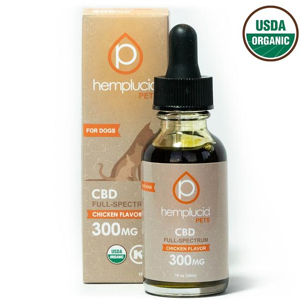 hemplucid cbd pets chicken flavor 300 mg